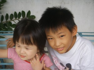 He is my young uncle! I like to play with him.. hehe..