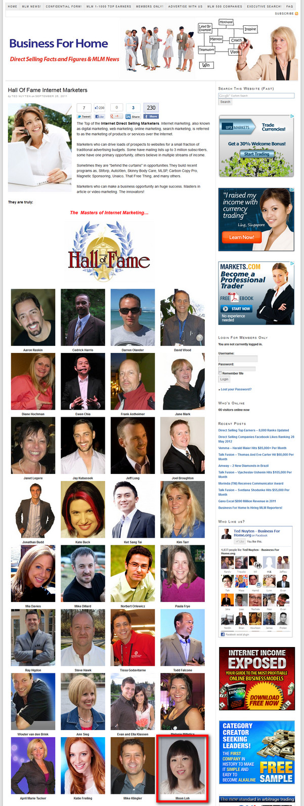 Hall Of Fame Internet Marketers