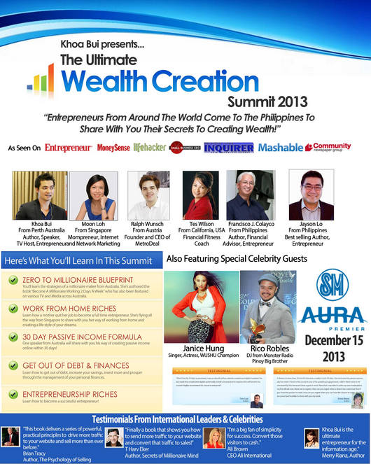 The Ultimate Wealth Creation Summit 2013, Philippines