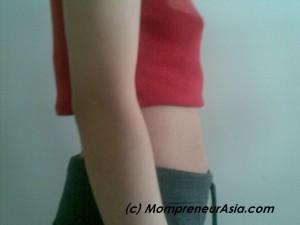 After 5 sessions of postnatal massage